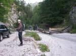 Izhodišče ture pri planini Mlinca nad Dovjem.
