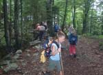 """Gozdna pot nas je vodila od """"Mencingerja"""" navzgor. Le zakaj je  tako urejen kanal?"""