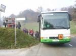 Avtobus je zapeljal v Žetale, kjer se je pričela naša pot.