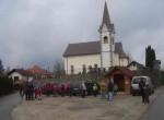 Pri cerkvi v Zaplani smo si izbrali izhodišče.