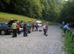 Tura se  je pričela na parkirišču pri vhodu v korita Tolminke v Zatolminu.