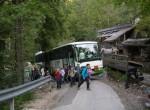 Višje  proti Matizovcu se z avtobusom ni več dalo zaradi preozke ceste.