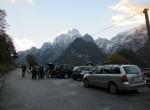 Izhodišče  ture v kraju Chiout v dolini Dunje (v ozadju Montaž).