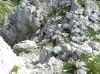 Prehod v skalnati del pod vrhom Briceljka.