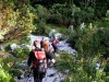 Prečenje gorskega potočka nad Viško planino.